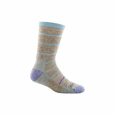 Darn Tough Women's Summit Stripe Boot Sock Cushion Pebbles S OS New