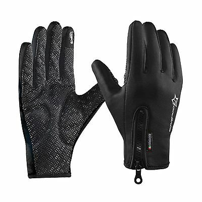 ROCKBROS Winter Cycling Gloves Touch Screen Windproof Fleece Thermal Anti... New