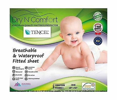 TENCEL ORGANIC BABY CRIB WATERPROOF MATTRESS PROTECTOR PAD COVER size 28'... New