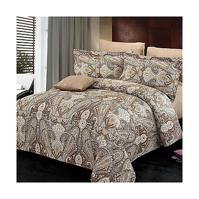 North Home 4 Piece Concord 100% Cotton Duvet Cover Set Queen New