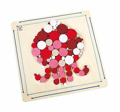 Hape Ocean Octopus Wooden Mosaic Wall Arts and Crafts Kit New