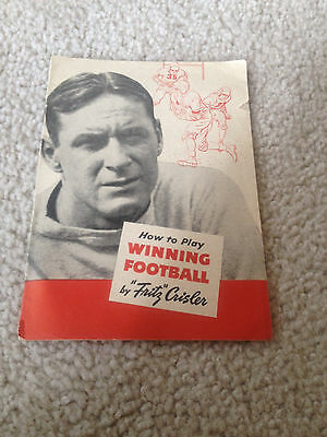 "How To Play Winning Football ""fritz"" Crisler Quaker Oats Michigan Wolverines"
