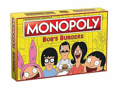 USAOPOLY Bob's Burgers Edition Monopoly Board Game New