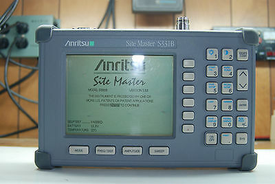 Anritsu Site Master Model S331B Cable and Antenna Analyzer