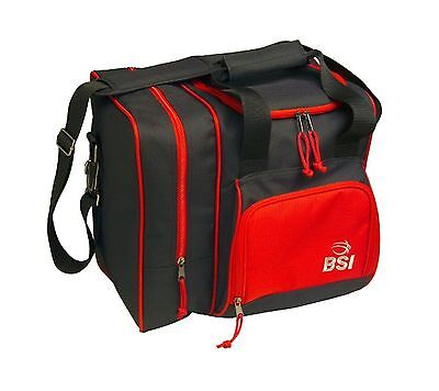 BSI Deluxe Single Ball Tote Bag Black/Red New
