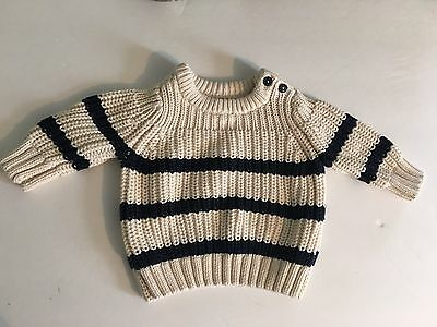 Baby Gap Boy Nautical Striped Knit Pullover Sweater Size 3-6M