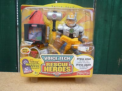 Fisher-Price Rescue Heroes Voice Tech Jack Hammer Action Figure NEW/SEALED