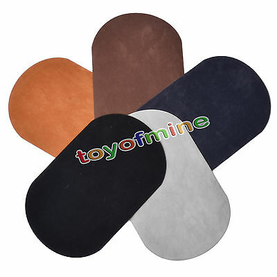2*Suede durable Leather Iron-on Oval Elbow Knee Patches  Repair Sewing Applique