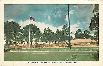 Mississippi, MS, Gulfport, US Army Recreation Camp 1942 Postcard