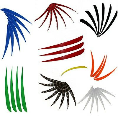"""Fashion 5"""" Right Wing Archery Shooting Pheasant Feather Arrow Fletching Feathers"""