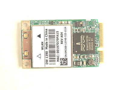 BROADCOM Wireless WLAN WiFi Network Adapter Card DW 1390 DW139 for DELL - TESTED