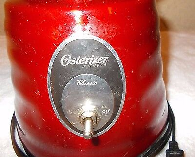 USED-Vintage Osterizer Classic Blender Red Finish WITH NO JAR  BEEHIVE BLENDER
