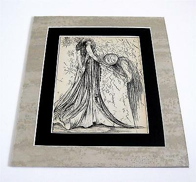 Salvador Dali vintage 73 years old pl/sign rarely seen art custom matted