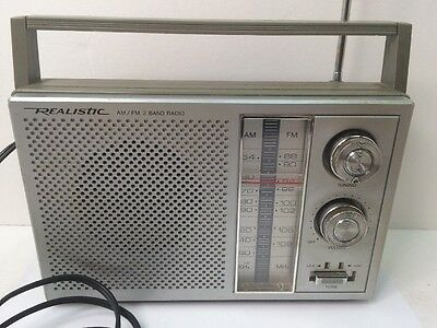 Realistic Am/Fm 2 Band Radio Model 12-716 Works! Radioshack