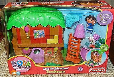 FISHER PRICE Dora The Explorer Let's Go Adventure Treehouse NEW SEALED TOY LOT