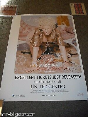 Madonna - Re-Invention Tour - Original Untrimmed Promo Poster- United Ctr - 2004