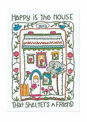 Dimensions  Crafts Crewel Embroidery House Sampler New
