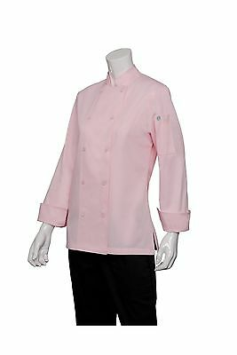 Chef Works Women's Marbella Chef Coat (CWLJ) Pink XL New