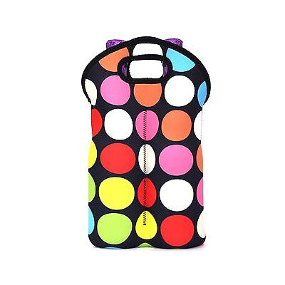 Zoresyn Neoprene Wine Carrier Bag for Champagne/Wine/Beer with Two Bottle... New