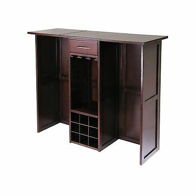 Winsome Wood Newport Expandable Wine Bar New