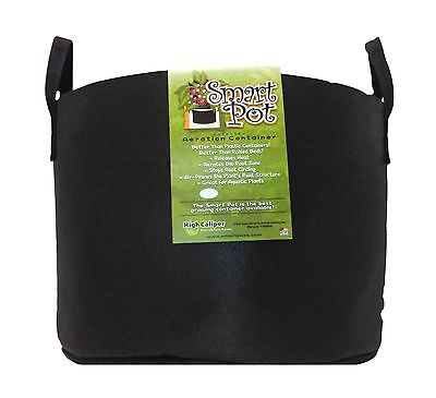 Smart Pots 15-Gallon Soft-Sided Container Black with Strap Handles 15-Gal New
