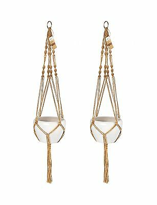 41 inch. Macrame Plant Hanger Holder ( Pack of 2) Indoor Outdoor Hanging ... New