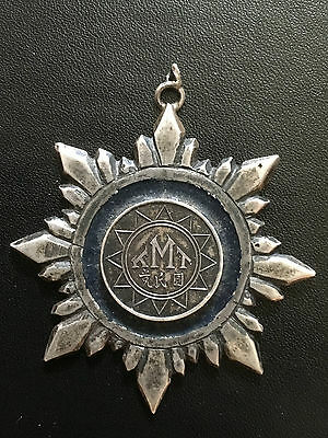 1930s CHINA KUOMINTANG NORTHERN EXPEDITION STERLING SILVER MEDAL  北伐战争国民党银军章