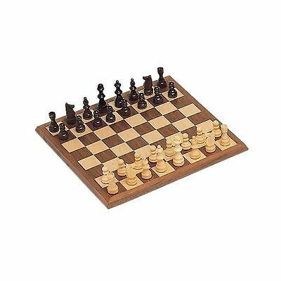 WE Games Classic Chess Set - Walnut Wood Board 12 in. New