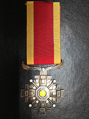 Original China Japan Manchukuo Order Of The Pillars Of State Silver Medal