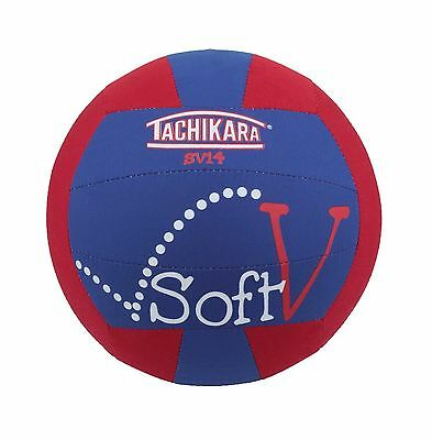 Tachikara SV14 Soft-V Fabric Volleyball Blue/Red New