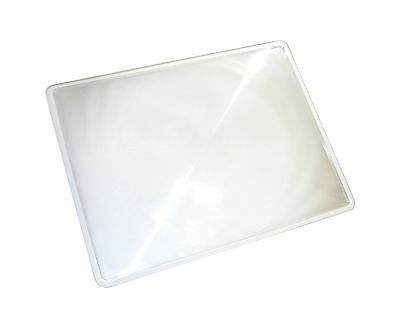 Carson 2x Power Rigid Frame 8.5x11 Inch Fresnel Page Magnifiers for Readi... New