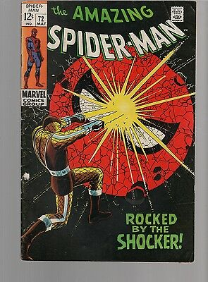 Amazing Spiderman 72  Vg 4.0 The Shocker   Marvel Silver Age Classic