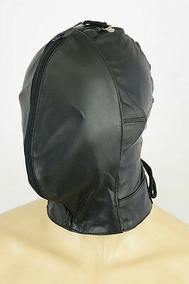 AW-907 Double Face hood ledermaske leder maske leather mask,masque n cuir