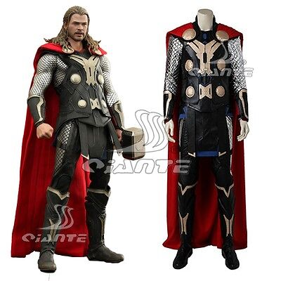 New Thor Cosplay Costume The Avengers Ultron Odinson Cosplay Outfit Cape Boots