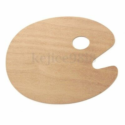 Wooden Artist Palette for Mixing Paint Thumb Hole Kidney 22 x 28cm