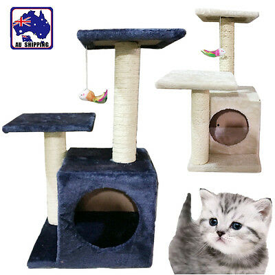 Cat Scratching Post Tree Scratcher Pole Gym House Toy Kitten Furniture PCAT565