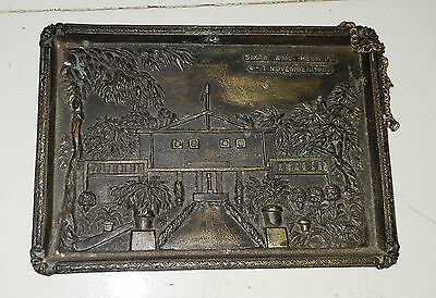 Vintage BRASS WALL HANGING  PLAQUE