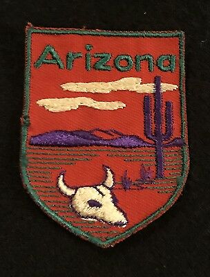 ARIZONA Vintage Patch State Desert Souvenir Travel VOYAGER Embroidered Sew On