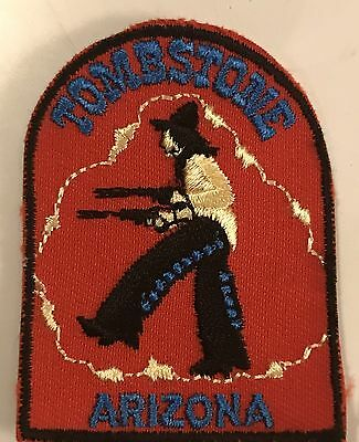 TOMBSTONE ARIZONA Vintage Patch State Souvenir Travel VOYAGER Embroidered
