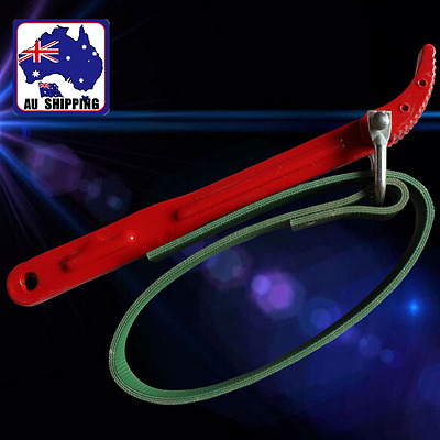12'' Oil Filter Handle Belt Strap Wrench Spanner Tool for Car Vehicle TPLI55801