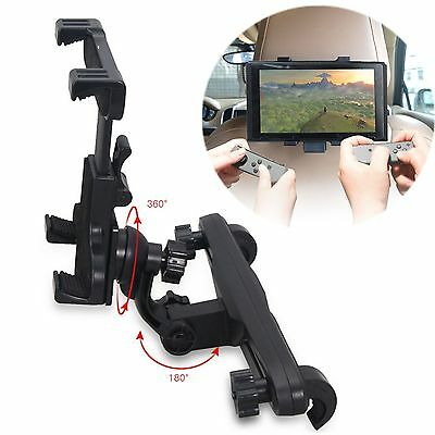 360° Rotating Holder Car Headrest Mount Stand Bracket For Nintendo Switch NS