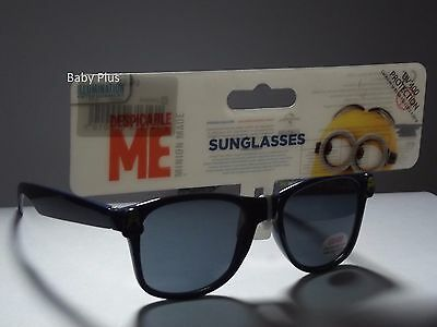 bnwt despicable me minions blue framed sunglasses uv 400 protection