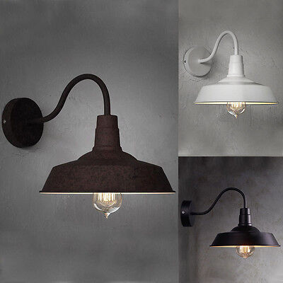 Vintage Loft Industrial Style Barn Gooseneck Wall Light Big Wall Lamp Sconce