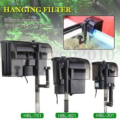 External Hang On Filter Surface Skimmer Waterfall Mini Aquarium Fish Tank 220V