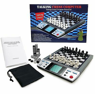 TALKING CHESS PROFESSOR 8 Challenging Brain Games Teaching Voice Chess