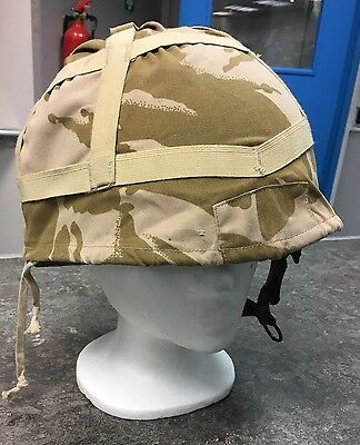 British Army Combat Helmet GS MK6 + Desert Camo Cover 2004 Size Large