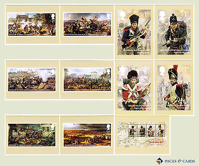 2015 Battle of Waterloo PHQ 403 - Mint Set of 11 Royal Mail Post Cards