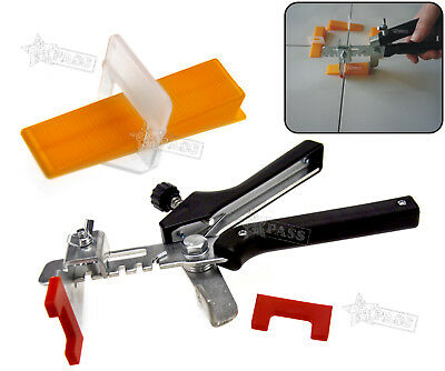 Large Tile Flooring Wall Leveling Spacer D Type System Wedges Pliers Tool KIT