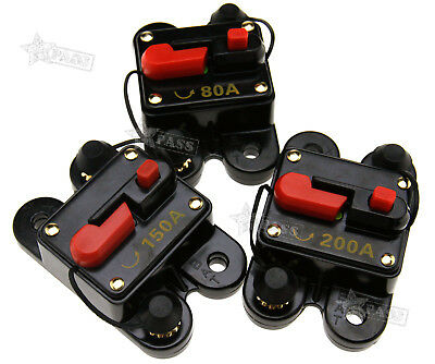 New 80A/150A/200A Car Stereo/Audio Circuit Breaker Amplifier Amp 12V-24V