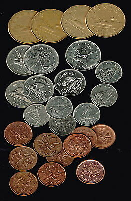 CANADA  -  Nice Bulk set of Current Coins will - suit collectors or travellers